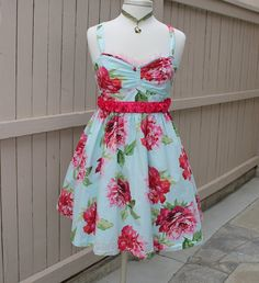 Retro Mad Men Dress in Gorgeous Floral Print by AmadiSloanDesigns, $58.00