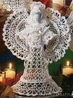 Crochet y Bebê: Anjos em crochet! Crocheted angels!