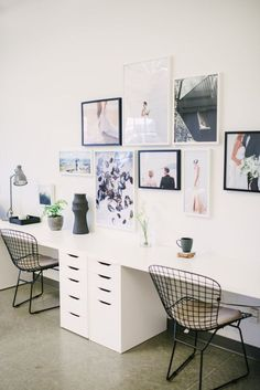 Modern contemporary office space: www.stylemepretty... Photography: Whitney Krutzfeldt - www.wckphotograph...