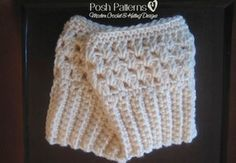 Free Crochet Patterns For Boot Covers : Simple Waves Boot Cuffs ~ free patterns Leg Warmers/boot ...