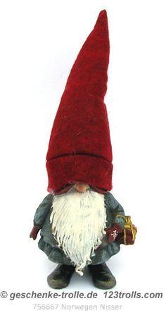 Vintage Norwegian Arne Hasle Nisse Troll Gnome Elf Doll Norway 18 ...