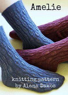 Pdf knitting pattern for feminine, lace socks for women by NeverNotKnitting on Etsy