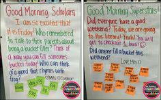 Primary Chalkboard: Morning Messages