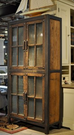 4 Accomplished Clever Tips: Industrial House Wire Baskets industrial chic warehouse.Industrial Shelving With Baskets. Vintage Industrial Furniture, Industrial Interiors, Metal Furniture, Rustic Furniture, Antique Furniture, Diy Furniture, Furniture Design, Industrial Bathroom, Industrial Loft