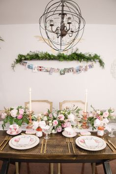 Gorgeous floral table setting: http://www.stylemepretty.com/living/2017/03/03/insider-tips-for-pulling-off-the-best-ever-dinner-party/ Photography: Artiese Studio - http://www.artiesestudios.com/