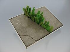 Tom McCarthy - Sidewalk Brooch - Concrete, aluminum, & plastic