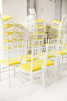 Setting up for DELPOZO's sping / summer 2014 New york fashion week show.