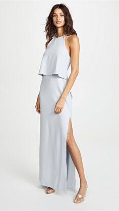 83960a7edc Halston Heritage High Neck Gown