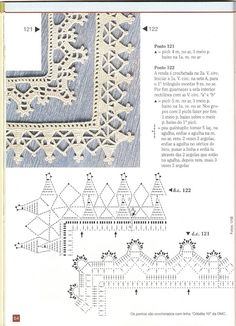 Free pattern diagram for lacey edgings! Filet Crochet, Crochet Doily Diagram, Crochet Edging Patterns, Crochet Lace Edging, Crochet Borders, Crochet Chart, Crochet Trim, Crochet Stitches, Stitch Patterns