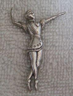 Adorable Vintage Beau Sterling Silver Ballet Dancer Brooch Pin | eBay