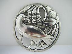 1930s Georg Jensen Sterling  Bird Brooch