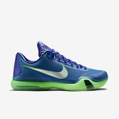 new arrival c47b7 bf7b5 Mens Nike Kobe X Shoes Size 11 Blue Green Silver 705317 402 for sale online