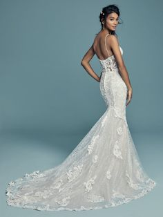 47ade215c3b4 Maggie Sottero Wedding Dress TUSCANY-LYNETTE 8MS794MC Back Formal Dresses,  Wedding Dresses, Designer
