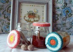 Spices - Especieros reciclados crochet colores lanas Wool http://tusmanosylasmias.blogspot.com.ar/