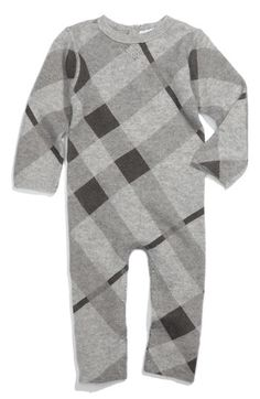 Infant Boy/'s Color Block Cashmere Romper and Blanket SET in Blue