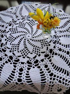 Crochet Tablecloth Pattern, Crochet Doily Patterns, Crochet Motif, Crochet Designs, Crochet Doilies, Sewing Patterns, Crochet Crown, Crochet Accessories Free Pattern, Pineapple Crochet
