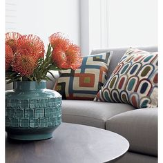 "Ammara 18"" Pillow in Decorative Pillows with Vianni Vase from Crate and Barrel."