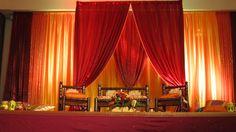 Mehndi Decor Staging done by Design & Decor at Centurion Center in Ottawa,ON Colors: Red, Orange & Maroon Wedding Looks, Mehndi, Wedding Decorations, Curtains, Random, Ideas, Design, Home Decor, Blinds