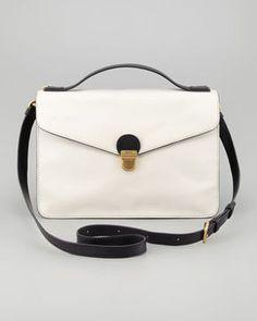 shopstyle.com: MARC by Marc Jacobs Top Chicret Two-Tone Leather Satchel
