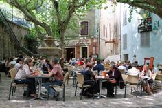 french village square with trees - Google Search