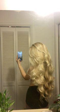 Beautiful Long Hair, Gorgeous Hair, Hair Inspo, Hair Inspiration, Blonde Hair Looks, Dye My Hair, Aesthetic Hair, Pretty Hairstyles, Straight Hairstyles