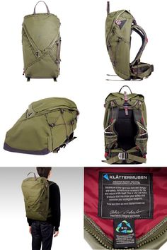 Rakuten: GNA DARK GREEN backpack dark green 35L KLATTERMUSEN