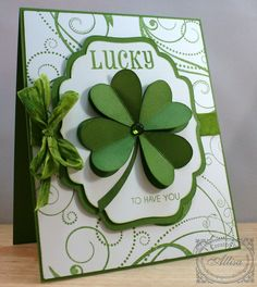 "** St. Patrick's Day Card ""Lucky To Have You""  @RockyMountainPaperCrafts"