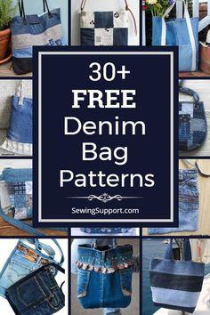 Over 30 free denim bag & purse patterns, tutorials, and diy sewin. Over 30 free denim bag & purse patterns, tutorials, and diy sewin… – Taschen aus Denim Bag Patterns, Purse Patterns, Diy Sewing Projects, Sewing Projects For Beginners, Sewing Tips, Sewing Tutorials, Sewing Hacks, Jean Purses, Purses And Bags