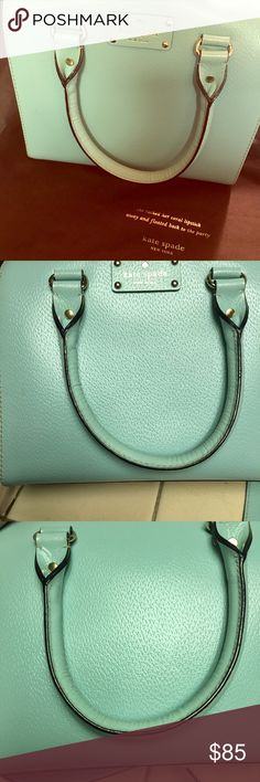 Kate Spade Handbag Teal color handbag in super great condition! Has been kept in dust bag and is super clean. Like new, no signs of damage kate spade Bags Satchels