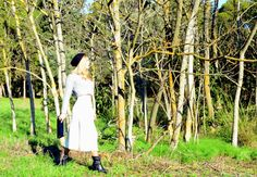 woods, booties, wide cropped pants, winter