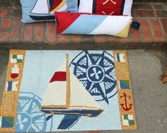 Nautical Rugs complete your sailing room