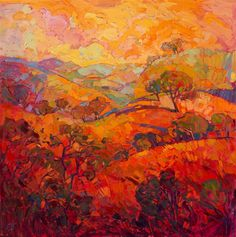 The Orange Show - original oil paintings by Erin Hanson.