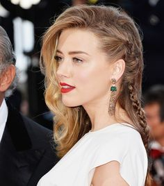We can't wait to try Amber Heard's deep side braid! (via @byrdiebeauty)