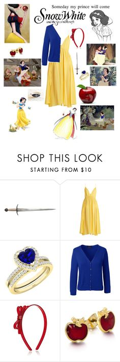 """""""Snow White"""" by nickeyg ❤ liked on Polyvore featuring Disney, 1937, S.W.O.R.D., Loup Charmant, Lands' End and Lilies & Roses"""