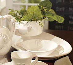 Italian White Serving Platter #potterybarn
