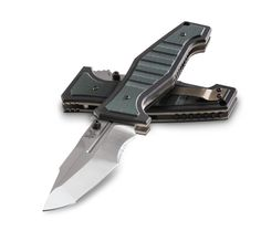 """Shane Sibert comes through again with this modern masterpiece.Heavy duty .090"""" thick titanium liner lockTanto blade with modified recurveCPM-S30V premium stainless steel blade (58-60HRC)Green and black stacked G10 handle scalesTip-up pocket clipFeaturesBlade Length: 3.90""""Blade Thickness: 0.162""""Handle Thickness: 0.660""""Blade Material: CPM-S30V Premium SteelBlade Hardness: 58-60HRCBlade Style: Modified RecurveWeight: 6.62oz. Pocket Clip: Tip-Up, Silver, RemovableLock Mechanism: Titanium ..."""