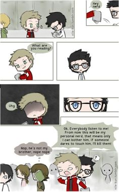 "destiel hs au Hahaha cute and funny<< Funny and adorable how Dean is like "" This is MY personal nerd cx"