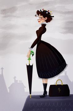 Mary Poppins by Susker Art for @Sketch_Dailies