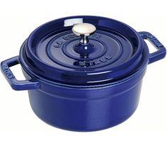 Staub Round Cocotte, blue cast iron pot