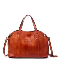 Love this Cognac Dip-Dye Leather Tote on #zulily! #zulilyfinds