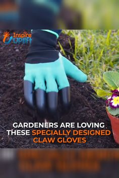 Claws Garden Gloves – ⭐⭐⭐⭐⭐ Gardening made easy with these Claws Garden Gloves. It is specially designed to make digging of soil fast and. Container Gardening, Gardening Tips, Organic Gardening, Gardening Supplies, Garden Projects, Garden Tools, Diy Projects, Claw Gloves, Design Jardin
