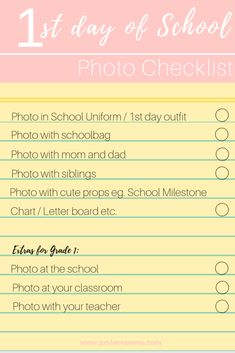 Back to School basics for 1st timers - Just A Mamma