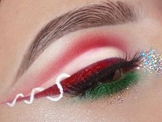 """When you Christmas as fuq ☃️ This look was so damn hard I wanted to burn all my makeup and delete my Instagram... like for real. The frustration was on another level. But it's all good it turned out aight ❄️ Brows : @anastasiabeverlyhills @norvina ebony brow wiz  Eyes : @cleogoddesslashes """"ballin"""" lashes,  @morphebrushes @linda_morphe 35B palette, @katvondbeauty exorcism liquid lip for the liner with the red morphe shadow on top, @nyxcosmetics white liquid liner, @nyxcosmetics silver ..."""