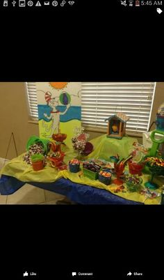 Dr suess theme candy table