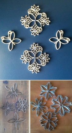Paper Towel Crafts, Quilling Paper Craft, Toilet Paper Roll Crafts, Cardboard Crafts, Dollar Store Crafts, Diy Crafts To Sell, Toilet Paper Roll Art, Paper Quilling For Beginners, Spool Crafts