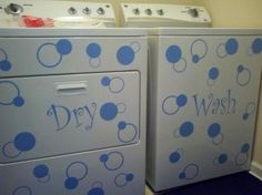 Dana's washer and dryer, using decals