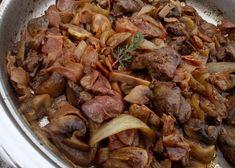 Žampionová směs s játry recept - TopRecepty.cz Food And Drink, Beef, Cooking, Meat, Kitchen, Brewing, Cuisine, Cook
