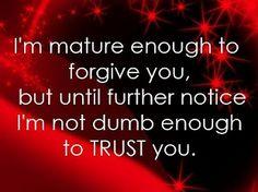mature enough