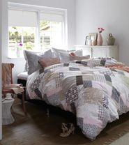 Beddinghouse dekbedovertrek Gladstone roze/beige dekbedovertrek.be