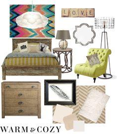 """rustic modern bedroom"" by jmariediet on Polyvore"